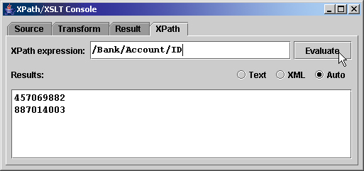 XPath Console screenshot