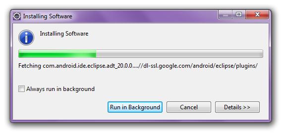 Eclipse ADT installing