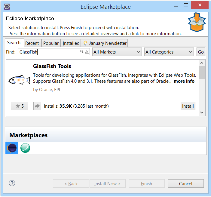 Tool Setup Instructions: EclipseLuna_GlassFish4 1 4 1