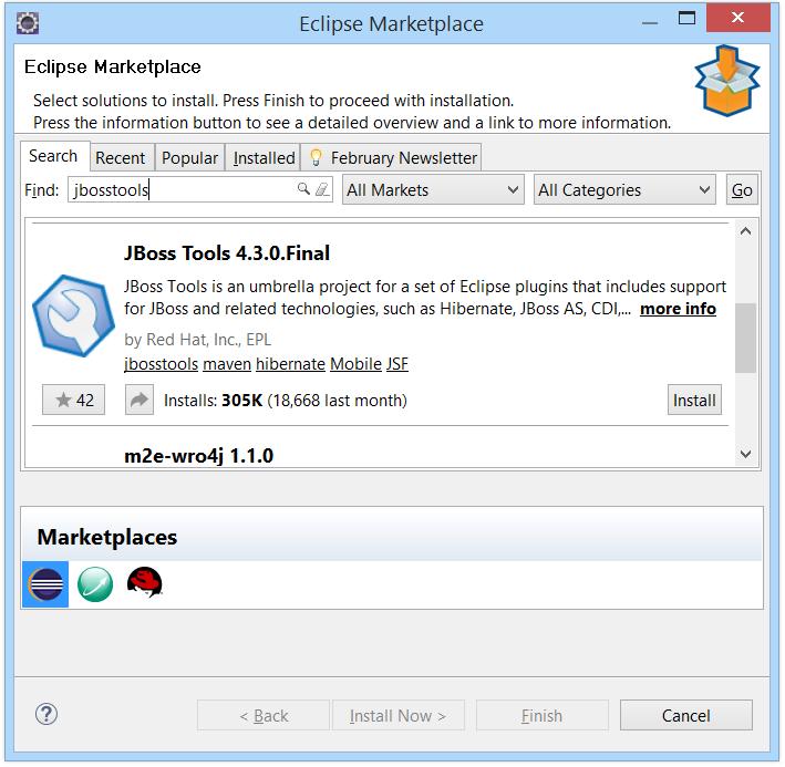Tool Setup Instructions: EclipseMars_WildFly10 0 10